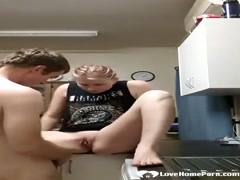 Kitchen sex and a creampie