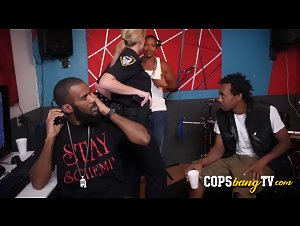 Naughty rapper TT gets his place raided by horny milf cops