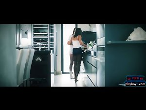 Cooking European babes hot lesbian sex in the kitchen