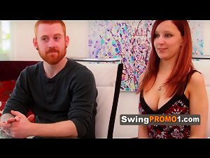 Swingers practice their lap dance moves