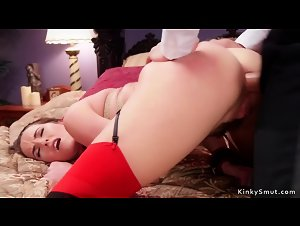Young slave tormented by couple
