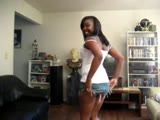 Amateur Ebony dancing