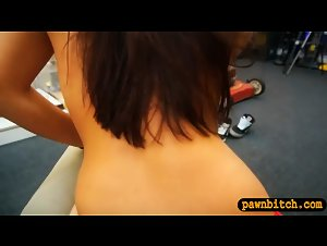 Sweet coed gets railed by pawn keeper at the pawnshop