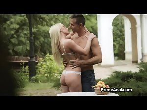 Eating and fingering gfs ass in the garden