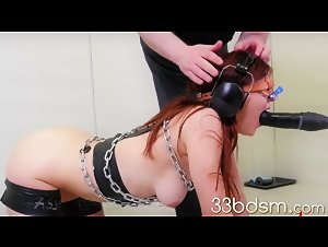 Girl slave in hard bondage anal fucked by a master