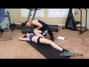 Private gym fucky sucky with busty Kyra