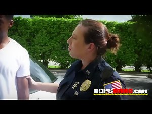 Criminal gives horny milf cops a rimjob