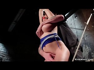 Huge tits slave fingered in bondage